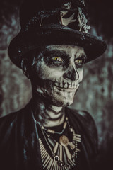 skull male makeup