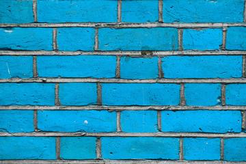 Blue grunge brick wall background