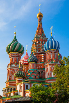St. Basil's Cathedral in the morning, Moscow, Russia