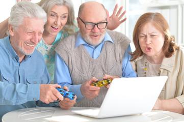 senior couples having fun