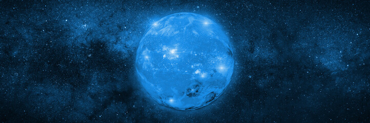 dwarf star in a star field