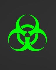 green biohazard symbol