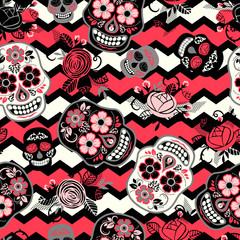 Dia de los muertos. Day of The Dead. Seamless pattern.