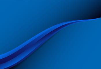 Blue gradient curve background material design overlap layer