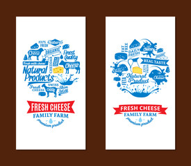 Vector cheese cards