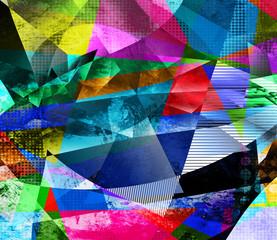 polygonal kaleidoskop malerei texturen
