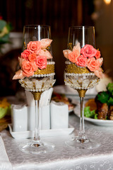 champagne glasses for a celebration