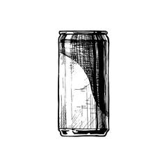 Vector illustration of beverage can