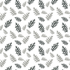 Seamless pattern Colorful naturalistic leaves. Vector Illustrati