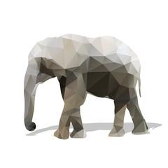 Elephant geometric silhouette