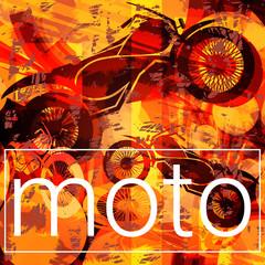 Racing motorcycle concept. Vector