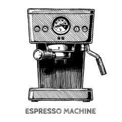 illustration of coffee machine