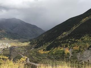 silverton colorado fall colos in rain