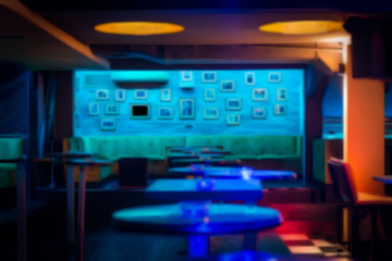 Burry picture of discotheque interior for background