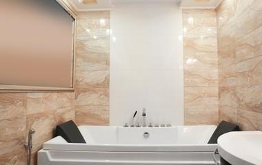 Hydro massage bath in modern spa center