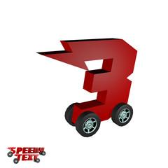 Speedy Text 3D Alphabet 3