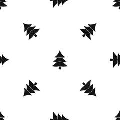 Fir tree pattern seamless black