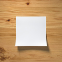 notepaper on wooden background