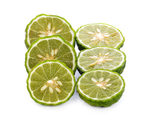 Bergamot isolated on the white background