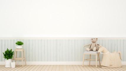 kid room in home or nursery - interior design - 3D Rendering