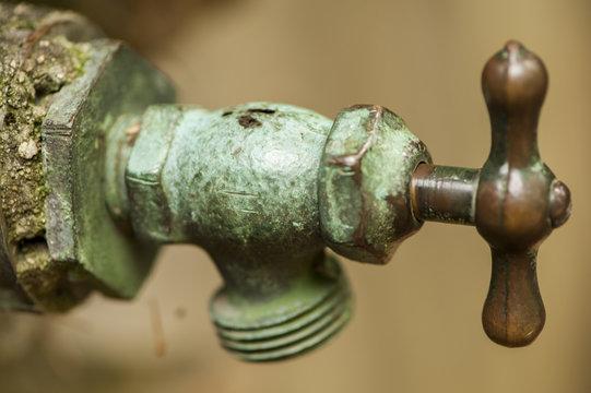 Bronze and Patina Copper Water Spigot
