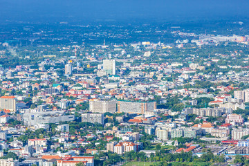 view of city of Chiangmai , Thailand