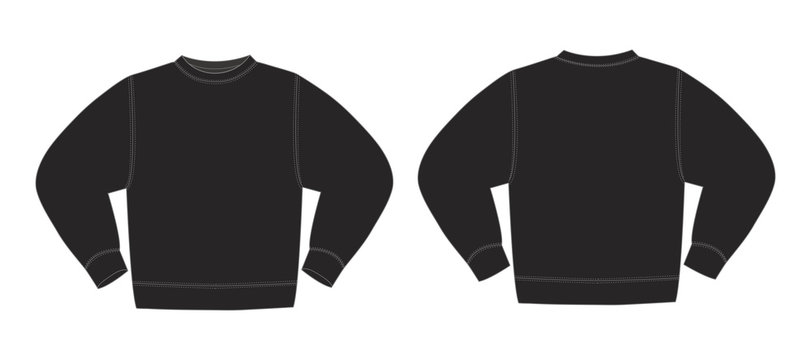 Illustration of sweat shirt (black)