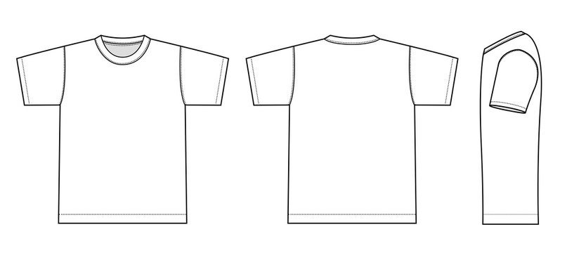 Tshirts illustration (white / side)