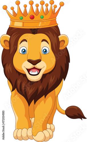 Cartoon lion wearing a crown