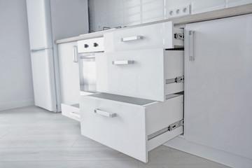 Interior of light modern kitchen