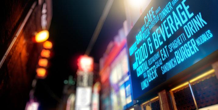 LED Signage - Food and Beverage