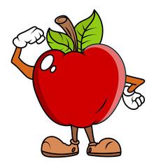 Cartoon Apple - clip-art vector illustration