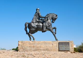 Equestrian statue of Ibn Qasi,  governor of the taifa kingdom of Mertola. Portugal