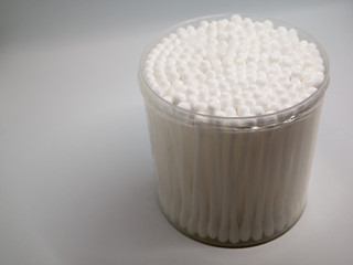 Container of Cotton Swabs
