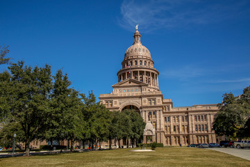 Texas state Capitol building in Austin Texas, January of 2016