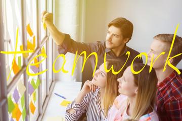 team entwickelt ideen