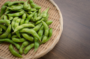 Japan pigeon pea or Edamame or Soybeans