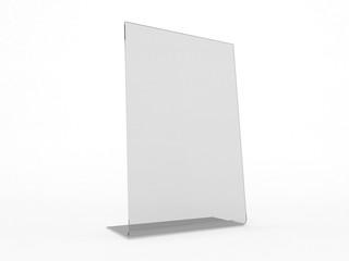 Mock up menu frame on table. 3D rendering