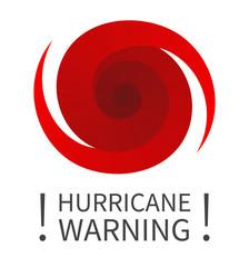 Graphic banner of hurricane warning