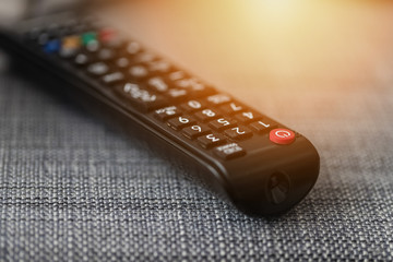 TV remote control on couch