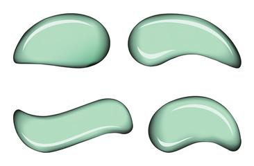 White skin cosmetic cream vector drops