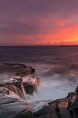 Fototapete - hawaiian sunset