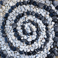 Stones in form of spiral