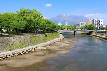 南洲橋からの桜島