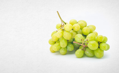Grapes or green grapes on a background.