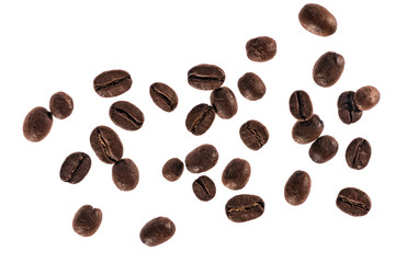 Coffee beans. Isolated on a white background.