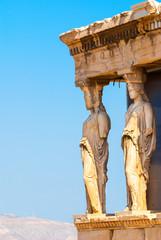 Keuken foto achterwand Athene Caryatids statues on the Parthenon on Acropolis Hill, Athens, Greece