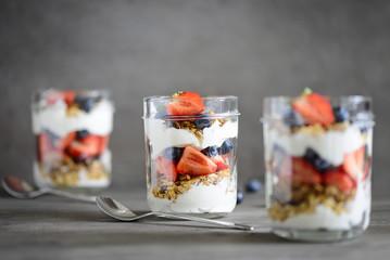 Yogurt with homemade granola