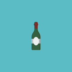 Flat Icon Wine Element. Vector Illustration Of Flat Icon Alcohol Isolated On Clean Background. Can Be Used As Alcohol, Wine And Bottle Symbols.