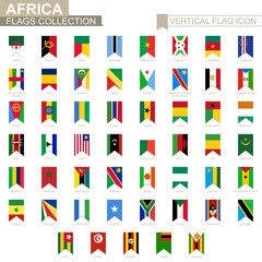 Vertical flag icon of Africa.